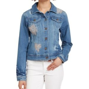 Max Jeans Embroidered Denim Jacket NWT